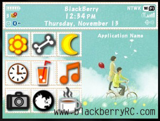 Bule Lover for blackberry 85xx,93xx themes