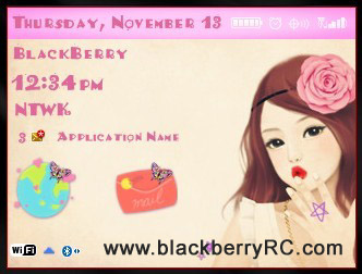Beauty Girl for blackberry 85xx, 93xx themes