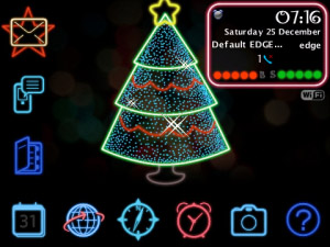 Neon Christmas for BB os5.0 themes