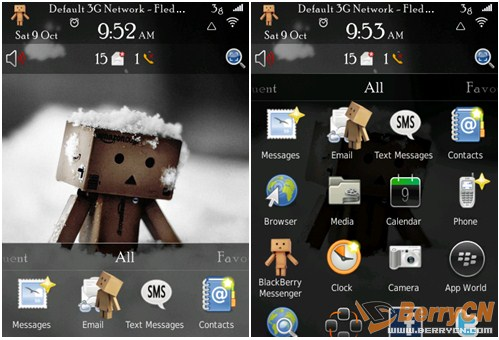 <b>Danbo Cardboard Box Robot themes for bb 9800</b>