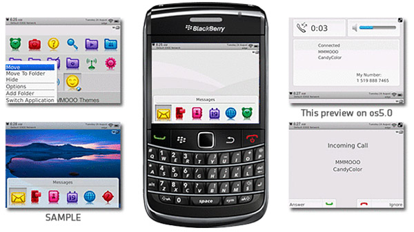 Free blackberry Candy Color Themes