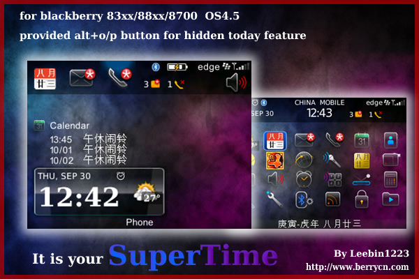 SuperTime for zen,today themes