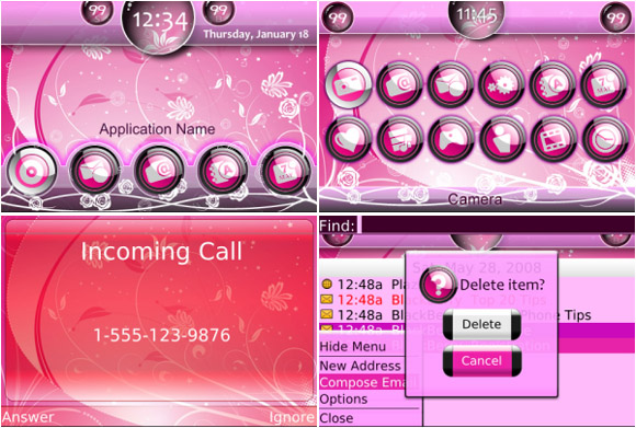 free Blossom for Girls Themes
