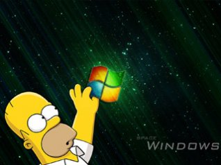 Simpsons and windows wallpapers
