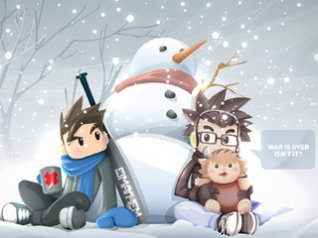 Snowman cartoon illustration