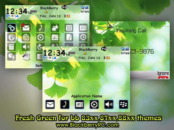 Fresh Green for bb 83xx,87xx,88xx themes