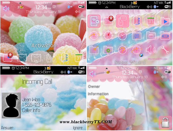 Romantic Colorful Sweets 89,96,97 themes