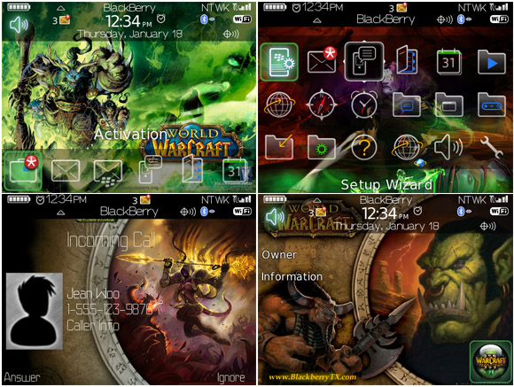 World of Warcraft for 89,96,97 themes