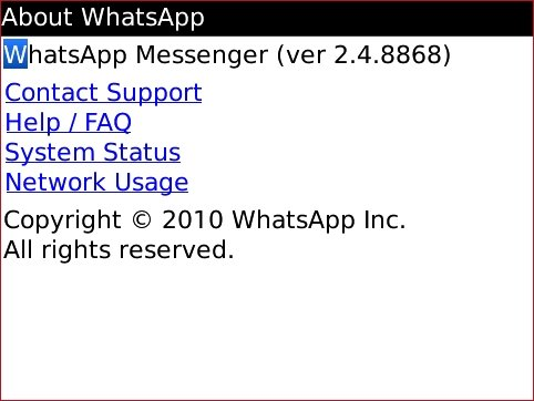 free Whatsapp 2.4.8868 for Blackberry apps