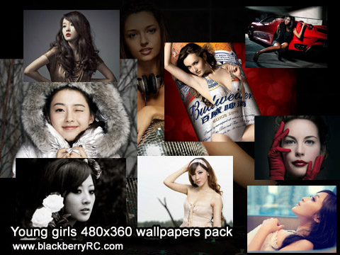 Young girls 480x360 wallpapers pack