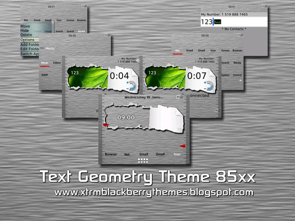 Textual Geometry for 85xx themes