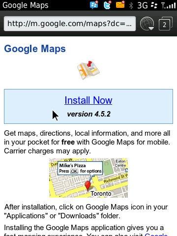 Google Maps Software Download For Blackberry