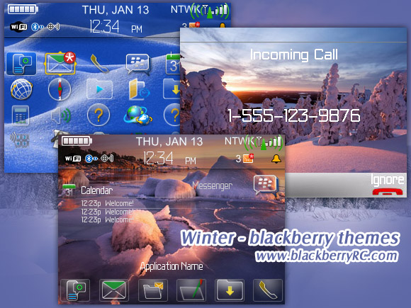 Winter - blackberry 87xx themes