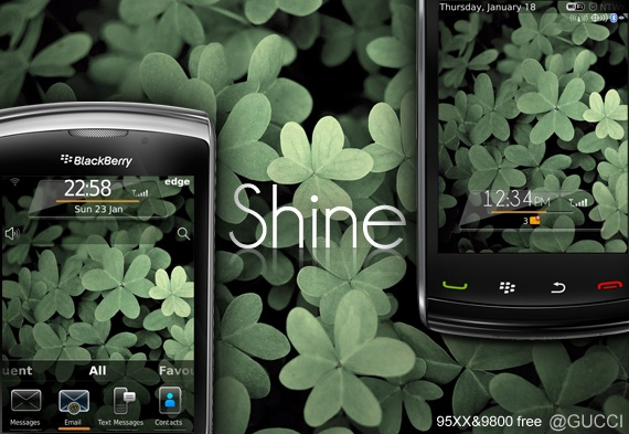 Shine for 9800 torch themes