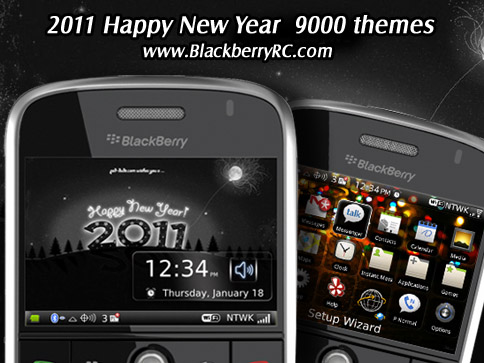 2011 Happy New Year 9000 themes os5.0