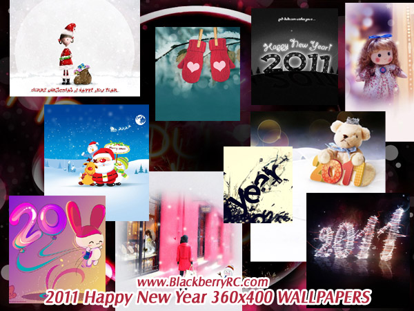 2011 Happy New Year 360x400 wallpapers pack