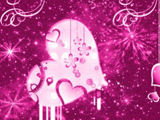 Romantic Valentines Day pink wallpaper