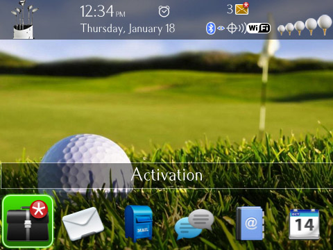 Golf Theme MASTER for blackberry 9800