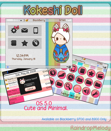 Kokeshi doll for 9700 themes download