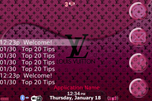 free LV for blackberry bold 90xx Themes