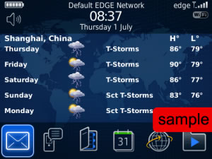 Weather Plus v1.1.2 - blackberry weather apps