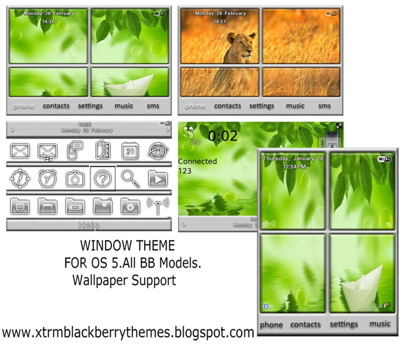 Windows Themes for all bb models