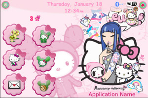 Hellokitty TokiDoki for 9000 themes os5.0
