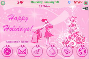 Pink Christmas for 90xx themes
