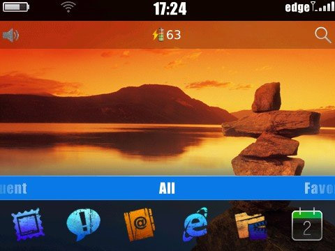 Litho theme for blackberry 9300