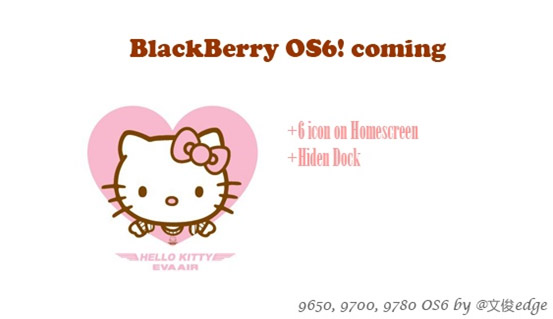 <b>HelloKitty for blackberry os6 themes</b>