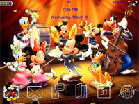 <b>BB 8520 themes : Mickey and Friends os5.0</b>