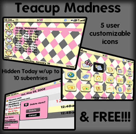 Teacup Madness for BB 9700 themes