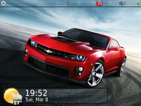 Chevrolet 2011 for blackberry 9300 themes