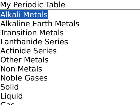 My Periodic Table V10 Free Blackberry Apps Download