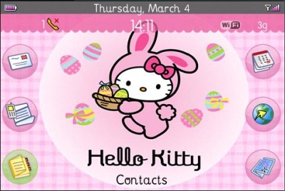 HelloKitty_Blackberry Themes free download, Blackberry Apps