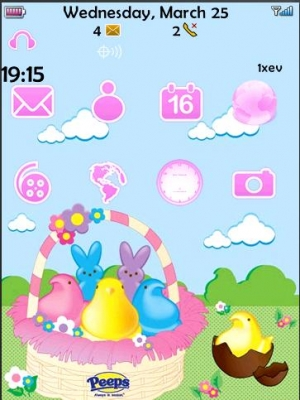 Easter Peeps Storm Customizable Dock