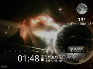 Snaps Galaxy for 9800 torch themes