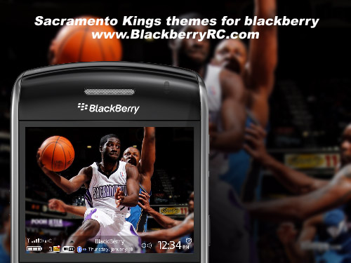 Sacramento Kings themes for blackberry 89,96,9700