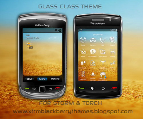 Glass Class for 9500 Storm, 9800 Torch Theme