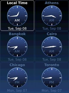 WorldClock v1.1 for bb 9900 apps