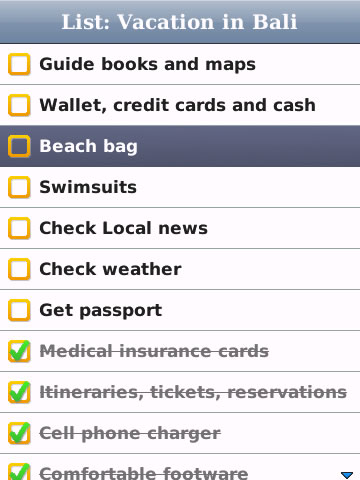 CheckLists v1.0.1