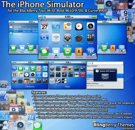 iBerry 4 v1.3 the iPhone Simulator for 96xx,9700,