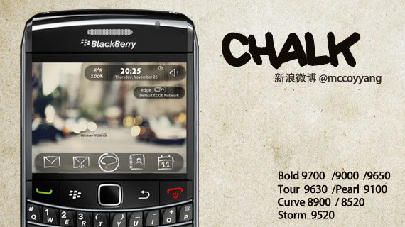 Chalk for Blackberry Curve 8520 Themes