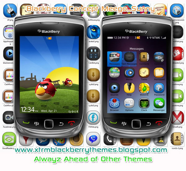 Blackberry Meego OS 8 for 9800 torch themes
