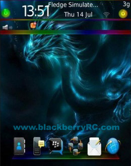Blue Drag for 9800 torch blackberry theme