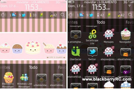 Download Kawai Cupcakes Torch 9800 themes