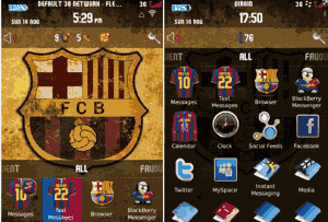 FC Barcelona BlackBerry 9800 torch Theme