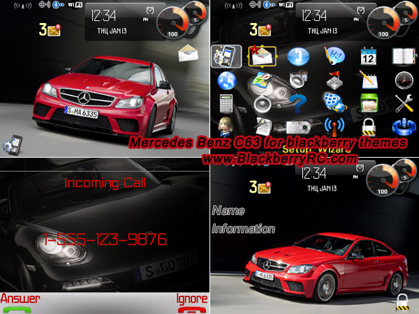 Mercedes Benz C63 AMG for 88xx curve themes