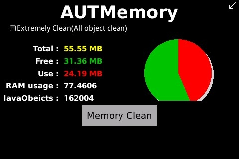 <b>free AUTMemory v2.5.1 for os5.0 BlackBerry Device</b>