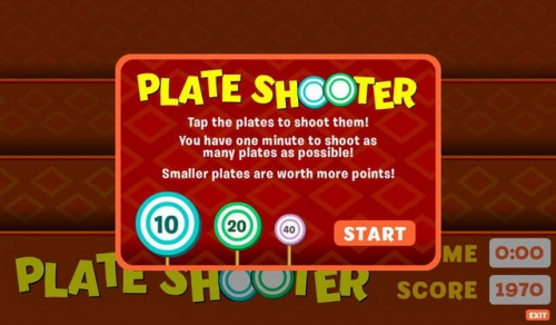 Plate Shooter v1.0.0 - free playbook games